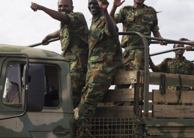 African Union soldiers on a truck 2