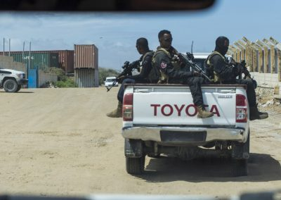 Somali forces on the road