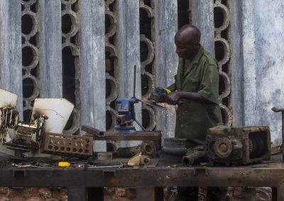 Somali metal worker