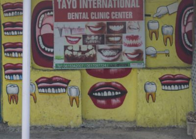 Wall displaying dentists